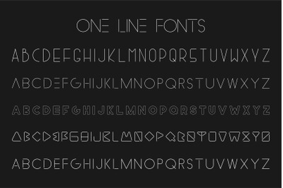 Collection of minimalistic fonts