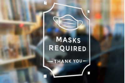 Masks Required Sign | SVG | PNG | DXF | EPS