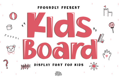 Kids Board Display Font