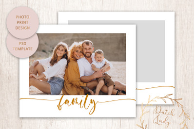 PSD Photo Print & Text Template #12