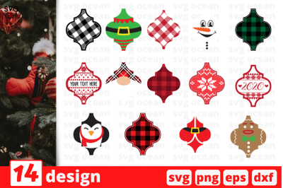 Arabesque Tile Christmas Ornaments SVG Bundle