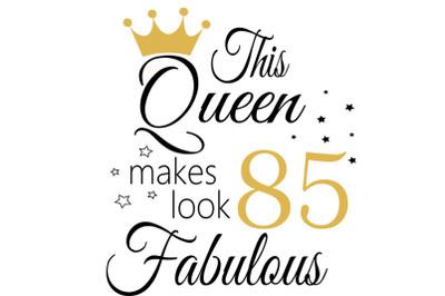 Birthday Svg, 85 Birthday svg, 85 Birthday clipart, happy birthday cri