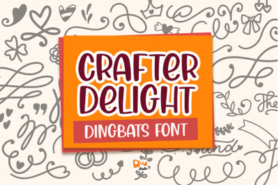 Crafter Delight Dingbats Font