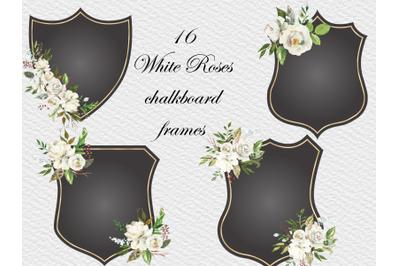 Elegant Black Frames with White Roses