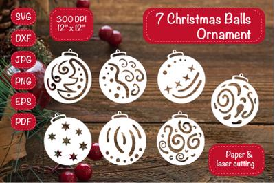 Christmas Ornament. Christmas Bundle. Christmas Balls ornament