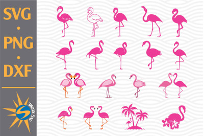 Flamingo SVG, PNG, DXF Digital Files Include