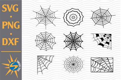 Spider Web SVG, PNG, DXF Digital Files Include