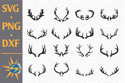 Deer Antlers SVG, PNG, DXF Digital Files Include