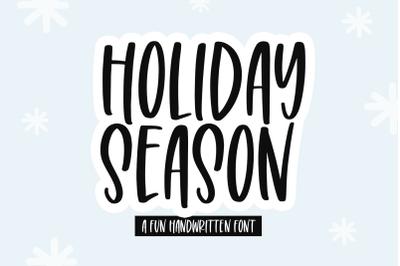 Holiday Season - Fun Handwritten Font