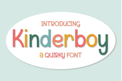 Kinderboy | Quirky Font