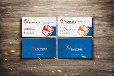 paint box business card