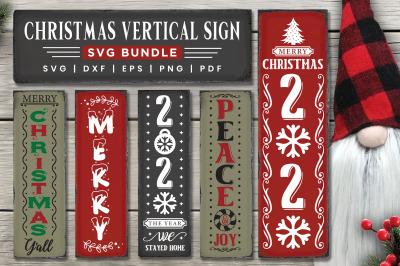 Christmas Sign SVG Bundle, 10 Christmas Vertical Sign SVG