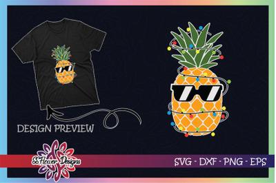 Pineapple with Christmas light Christmas