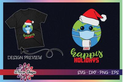 2020 Christmas Earth Happy holidays
