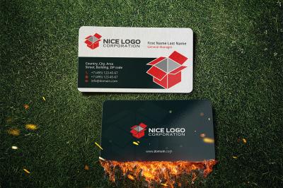 isometric box business card