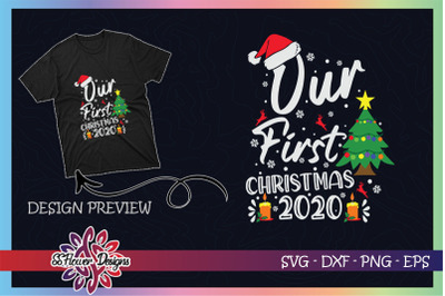 Christmas svg, Our first Christmas 2020 Christmas tree