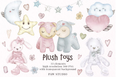 Plush Toys Animals Holiday Birthday Clipart Valentines Day