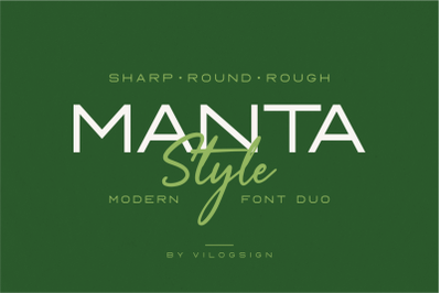 Manta Style a Modern Font Duo