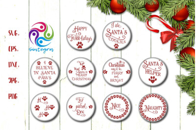 Christmas Pet Ornament Bundle Svg