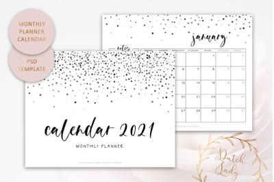 PSD Monthly Calendar Template 2021 #5