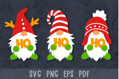 Christmas gnomes svg Christmas paper cut Christmas gnome svg files