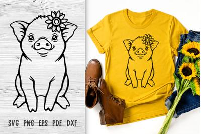 Pig svg Baby farm animals svg cut files Farmhouse svg files for cricut