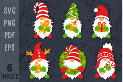 Christmas gnome bundle Gnome svg Xmas svg files Xmas bundles svg