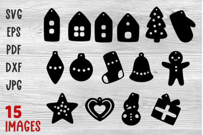 Christmas earrings svg Laser cut Christmas earring bundle svg