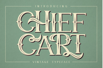 Chief Cart Vintage Typeface
