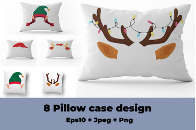 Christmas Pillowcase Sublimation Design