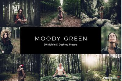 20  Moody Green LR Presets
