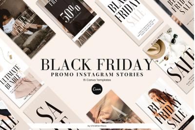 Black Friday Promo Instagram Story Canva Template