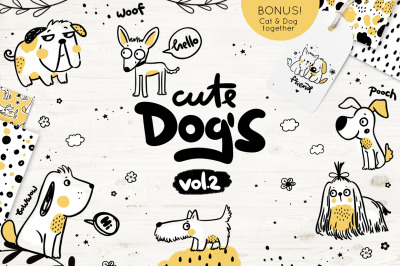Cute dog's illustration vol.2