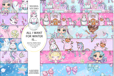 ALL I WANT FOR WINTER IS... Digital Papers