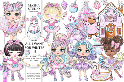 ALL I WANT FOR WINTER...Clipart
