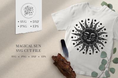 Magical Sun SVG Cut File