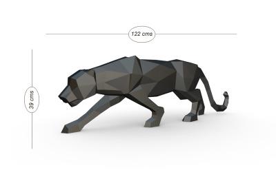 DIY Panther Sculpture - 3d papercraft