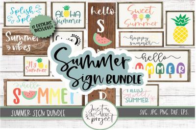 Summer Sign Bundle, Summer Sign svg, Hello Summer svg, Summertime svg