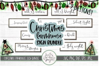 Christmas Farmhouse Sign Bundle, Christmas svg bundle, Christmas deco