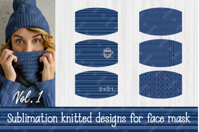 Siblimation Bundle. Knitted Pattern for protective face mask.