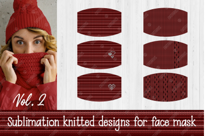 Siblimation Bundle. Knitted Pattern for protective face mask