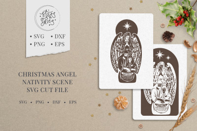 Christmas Angel Nativity Scene SVG Cut-File