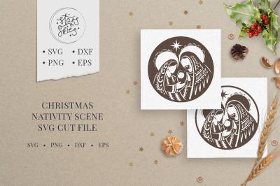 Christmas Nativity Scene SVG Cut-File