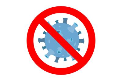 Coronavirus prohibition icon. Ban danger corona 2019-ncov
