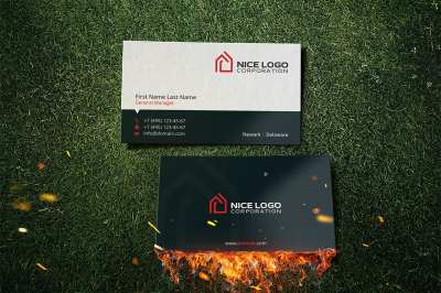 house logo business card