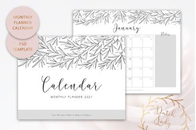 PSD Plan Calendar Template 2021 #6
