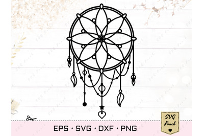 Dreamcatcher SVG, Boho dream catcher