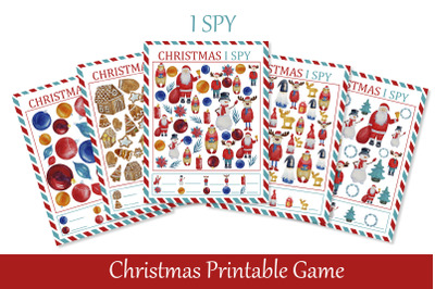 I Spy Christmas Printable Game for Kids. image 0 I Spy Christmas Prin