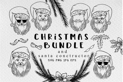Santa Christmas svg bundle