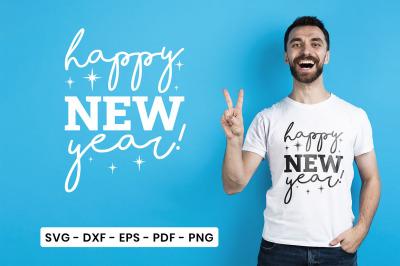 Happy New Year, New Year SVG, Happy New Year Quotes SVG